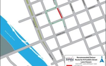 Temporary Lane Closure on N Franklin Street June 3, 2019 for Utility Construction