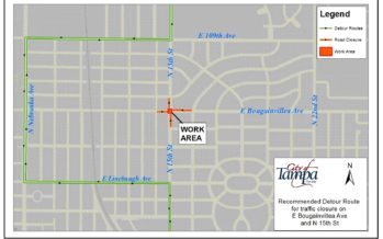 Partial Closure of East Bougainvillea Avenue to begin May 21, 2019 for Utility Maintenance Work