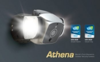 Athena is Recognized as World's First Biometric Security Camera with Voiceprint Technologies