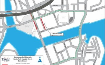 Temporary Lane Closures on S Franklin Street December 2, 2019 for Miscellaneous Improvements