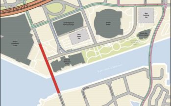 Temporary Road Closure of S Franklin Street/S Harbour Island Boulevard and Water Street (formerly Old Water Street) began December 2, 2019 for Road Improvements